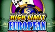 Европейский Блэкджек: Высокие Лимиты